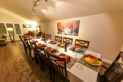 Dining room with ample seating for 12 guests