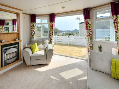 Photo for Perched on the hillside on the luxury Tal y Fan park at the entrance to Abersoch and with far reachi