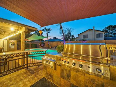 Photo for NEW! Chic Phoenix Home w/ Hot Tub, Pool & Fire Pit