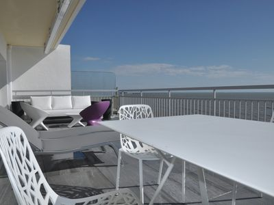 Photo for Type 3 of 75m2 + 35m2 terrace direct sea view