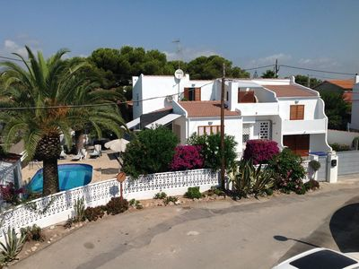 Photo for Vinaros: Terraced Chalet 300m from the sea with swimming pool and gardens