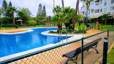 Photo for APARTMENT IN JARDINES DEL SOL, URBANIZATION COSTA BALLENA, WITH PRIVATE GARDEN.