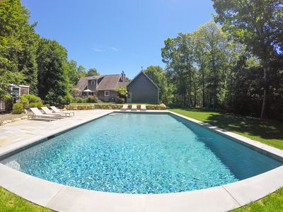Photo for LUXURY RENOVATION FOR 2019! Montauk Home with Pool + Walk to Ocean Beach