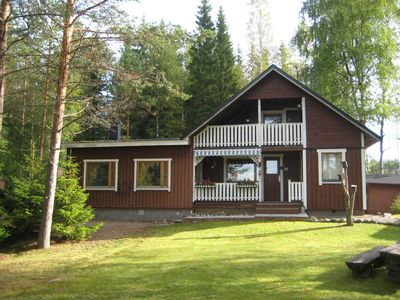 Photo for Luxury holiday home / Mökki in Finland directly on the lake - 5 star category (*****)