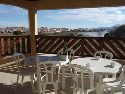 Photo for Saint-Cyprien-Plage Apartment, Sleeps 7 with Pool, Air Con and Free WiFi