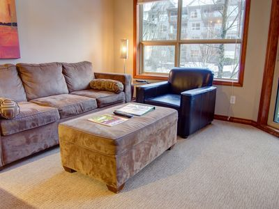 living area with memory foam mattress sofa bed