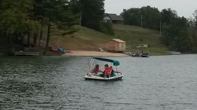 Enjoy our paddle boat!