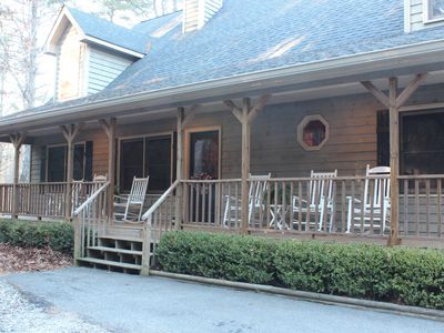 Photo for RUSTIC ELEGANCE-3 King size beds & 2 miles from downtown Helen