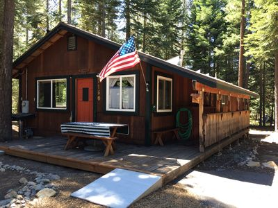Photo for Two Morrows Tahoe Cabin near skiing & HOA beach,  pets & children welcome!