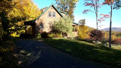 Photo for Storybook cabin on Bear Mountain overlooking Newfound Lake