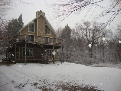 5 Bedroom Ski Chalet minutes from Okemo and downtown Ludlow!Exterior recent pic!
