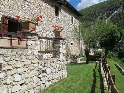 Photo for Old rural house with garden & SPA in the village of Valnerina