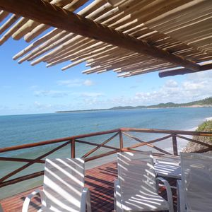 Photo for Beach house with private deck on the sea