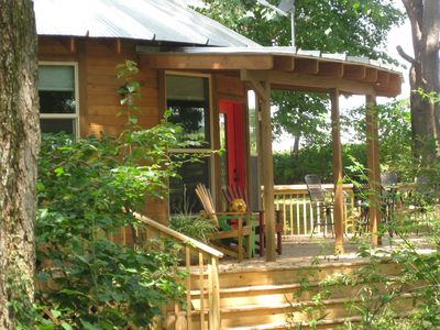 Photo for A Unique Experience!  Yurt Living In A Beautiful Woods Setting!