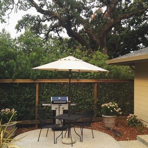 Guest Cottage private patio and gas grill just outside your kitchen door