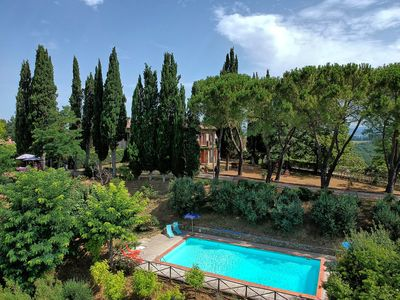 Photo for Villa with private pool overlooking San Gimignano. Exclusive use of the property