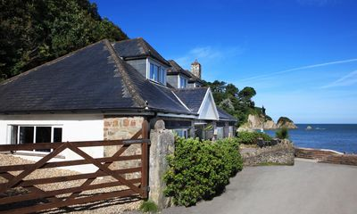 Photo for Directly on Seafront in Lee. Large 4 bed house. Sea views abound. On the beach