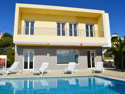 Photo for Tranquil family villa with lovely sea view, easy stroll to centre and beach
