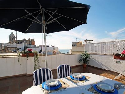 Photo for Friendly Rentals The Maritim Blau Atic Apartment in Sitges