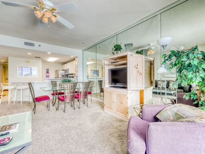 Photo for Seaside escape w/ water view, private balcony, onsite amenities and shared pool