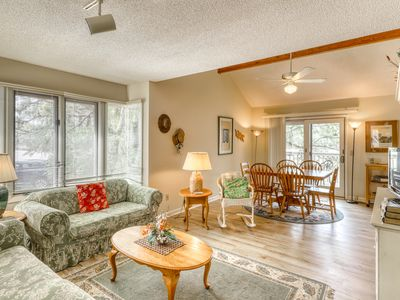 Photo for Dog-friendly, riverfront condo w/ shared pool plus access to tennis & gym