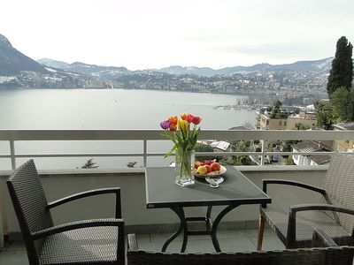 Photo for Apartment 746 m from the center of Lugano with Lift, Internet, Washing machine, Balcony (48357)