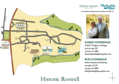 Located in the middle of the historic original Roswell Mill Village