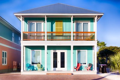 Book your stay at Sea Escape today, sleeps 20 guests!