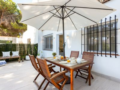 Photo for Beautiful & Quiet 2 Bdrs Apartm with private Terrace & communal Swimming Pool. Benamara
