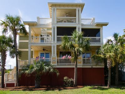 "Photo for ""Ocean's Song"" * LUXURY 5BR/6BA HOME, Pool, Elevator * 1 block to beach * 5-STAR"