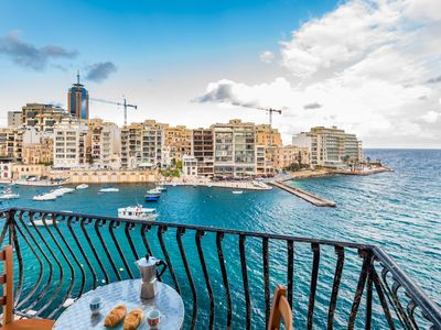 Photo for GetawaysMalta Spinola Bay Mansion Seafront Apartment in St Julian near Paceville