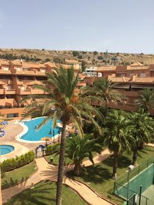 Photo for Large 2 bed apartment set in landscape gardens near the beach and golf course