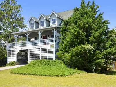 Photo for Great location! 4 bedrooms on the soundside in Nags Head. PRIVATE POOL! Hot-tub. Short walk to easy sound access.