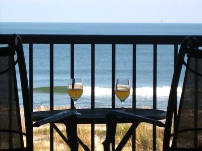 Photo for True DIRECT Oceanfront - Admiral's Row 305 - Right on the Beach!  Best View!