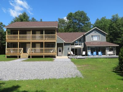 10 BR home, up to 3 homes with 22 BR/15BA, hot Tubs, On 20 acres, water views