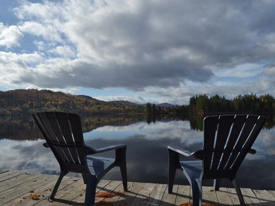 Photo for Beautiful Home With Mountain Views And 100' Of  Water frontage - Skiing close by