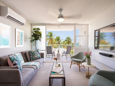 Photo for Solis Beach Flat   Right on the Beach   Ocean Views & Pool