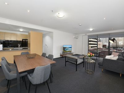 Photo for Fully furnished 2 bedroom Apt 415/181 Exhibition St,CBD