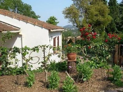 Charming independent house on Fréjus, small enclosed and shaded garden, dogs