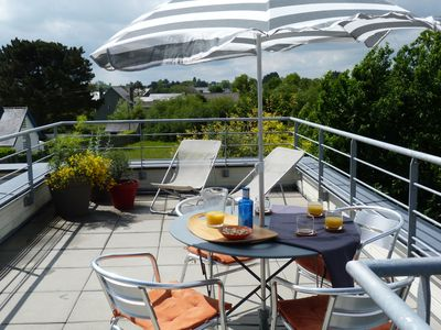 Photo for Quiet comfort and terrace south, 5 minutes from the beaches and the GR on foot