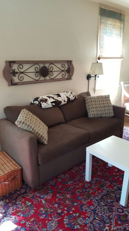 Living Room, New Queen Sized Sleeper Sofa