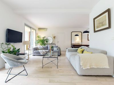 Photo for CAP D'ANTIBES COZY CHIC HOUSE W/ TENNIS COURT
