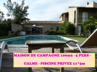 Photo for Quiet country villa in Provence of 100m2 with private pool
