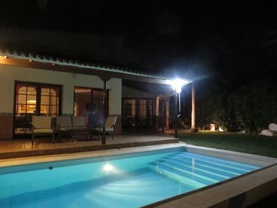 Photo for Refurbished spacious Villa set in private landscaped gardens, with heated pool