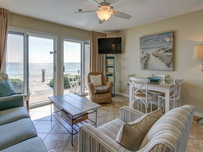 Photo for 1st Floor Condo w/ Gulf View! Grill, Pools, Beach Access, Near shops and dining!