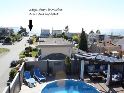 Photo for Ocean View 3 Bedroom Home With Pool! Steps to the Beach. Monthly rental only.