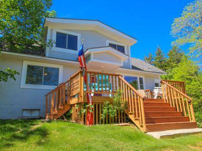 Photo for Dog-friendly home w/ deck, picnic area, & foosball - close to Acadia & more!
