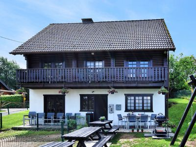 Photo for Pleasing Chalet in Fraiture (vielsalm) with Balcony, Garden
