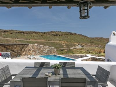 Photo for 3 Bedroom Villa with private pool and sea view, Panormos beach, Mykonos