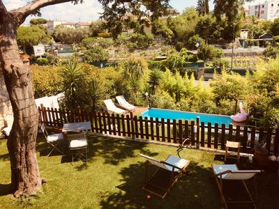 Photo for Independent studio in private villa in Cannes: wifi, garden, air conditioning and pool